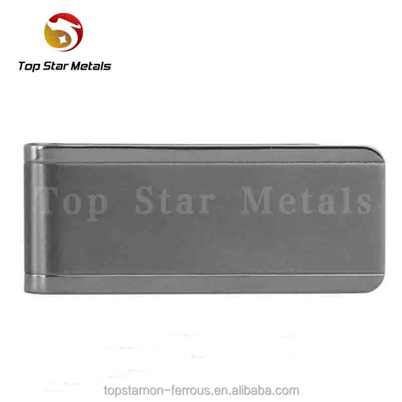 Grade2 Pure Titanium Metal Money Clip with bottle opener Polishing finishing function