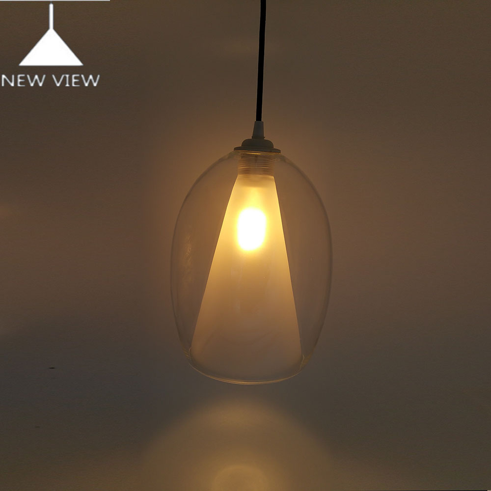 Double Layer Pyrex Lighting Glass Ball For Pendant Light And ...
