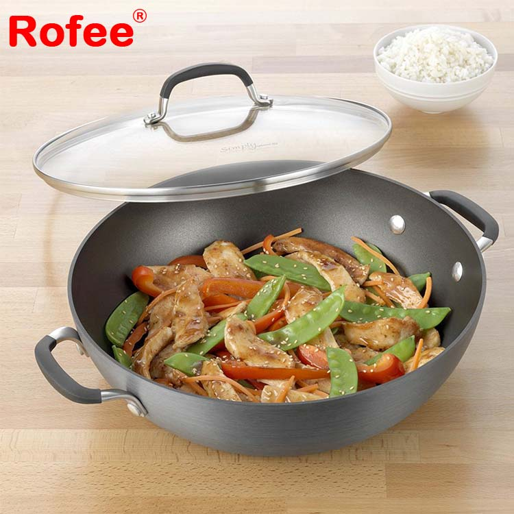 12 inch ceramic coating non stick all purpose deep round fry pan