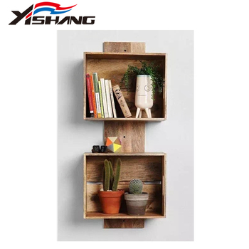 Cheap Price Wall Design Wooden Book Rack