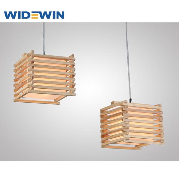 creative diseo cuadrado de madera colgante de la lmparaled para e27 luzpara - Lamparas De Madera