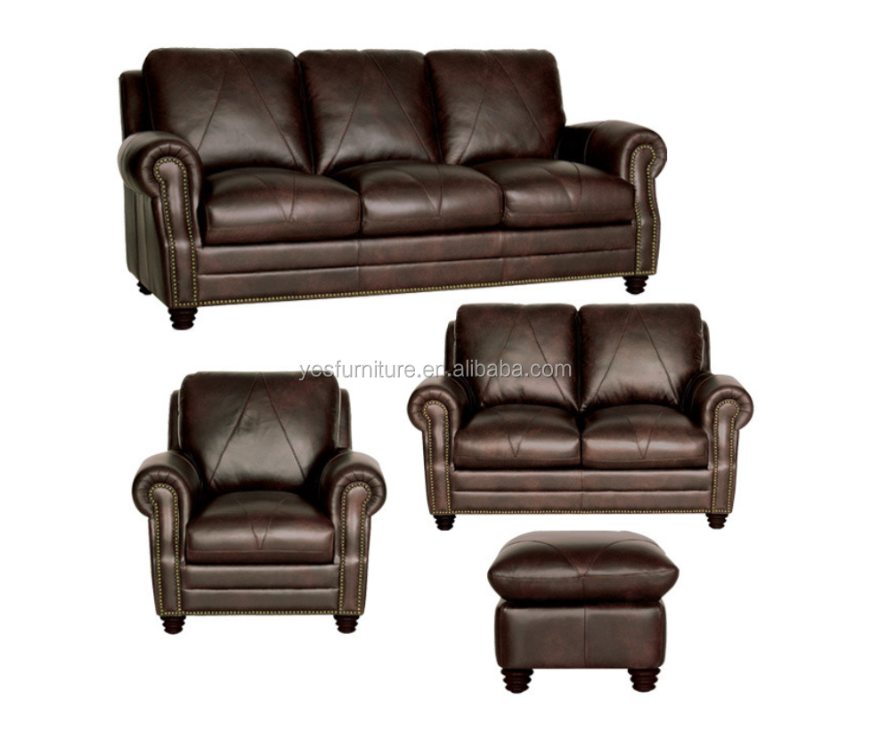 Best Genuine Leather Sectional Sofa: 100% Top Genuine Leather Sofa Set