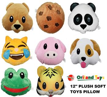emoji puppy dog faces bear pets cushion stuffed soft 12 bear emoji