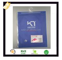 Transparent PVC garment bag with zipper and hanger