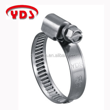 Stainless steel rubber pipe hose clamp for radiator and heater