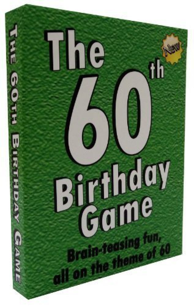 Fun New 60th Birthday Party Game Idea Also Suitable As