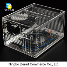 PC-C670 High Quality Personalized Horizontal M-ATX PC Custom Acrylic Transparent Plexiglass Desktop Computer Case