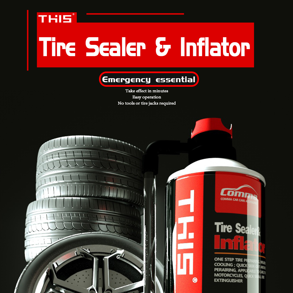 Wholesale Accessories Car 450ml instant repair spray car tire sealant and inflator tyre sealant anti puncture
