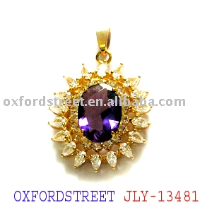 Fashion Zirconia Gold pendant