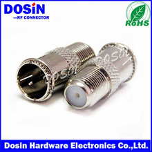 Dosin hot selling F type female to PAL coaxial adapter for RG Cable
