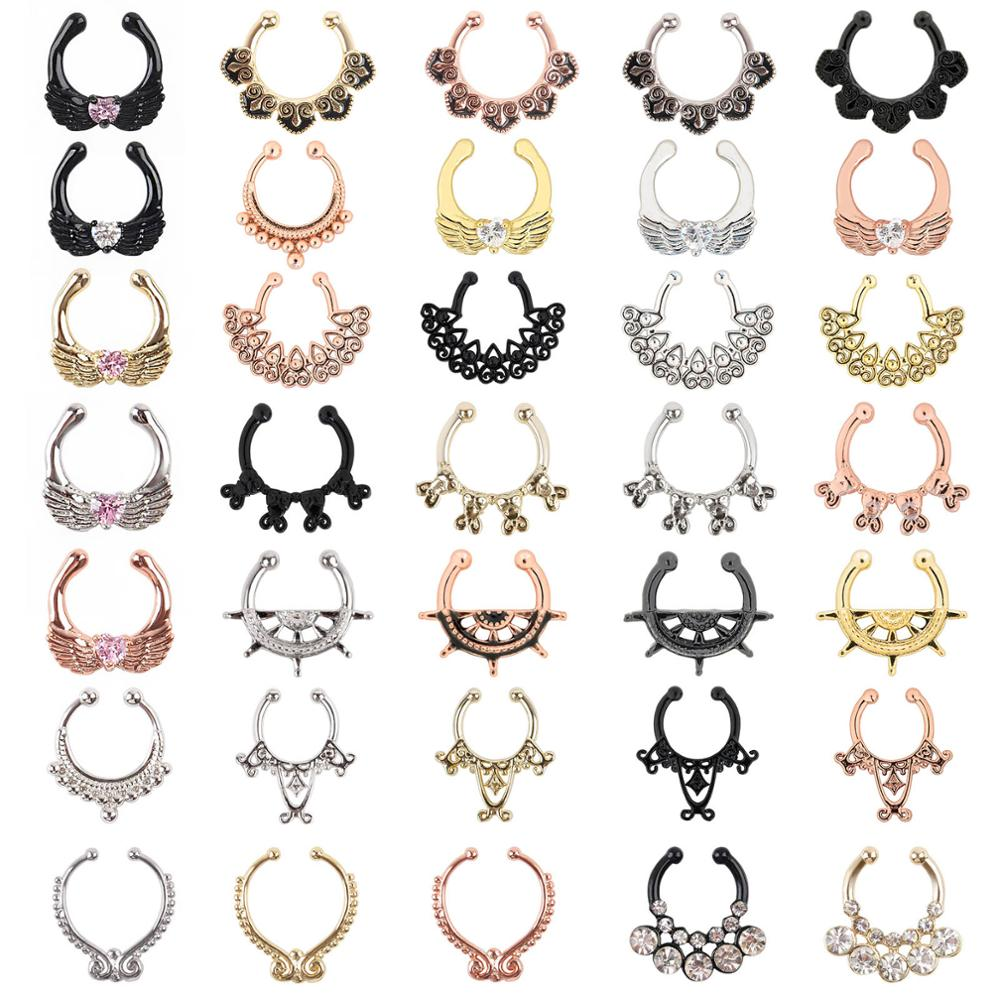 316l Stainless Steel Body Piercing Jewelry Nose Hoop Nose Septum