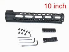 "10"" Light Weight Aluminum One Rail 12 inch Float Handguard Picatinny Quad Rail for AEG M4 M16 AR15 for Hunting Shooting"