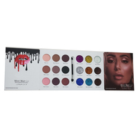 Matte Eyeshadow Palette And Glitter Eyesgadow Powder With Double Head Eyeshadow Brush