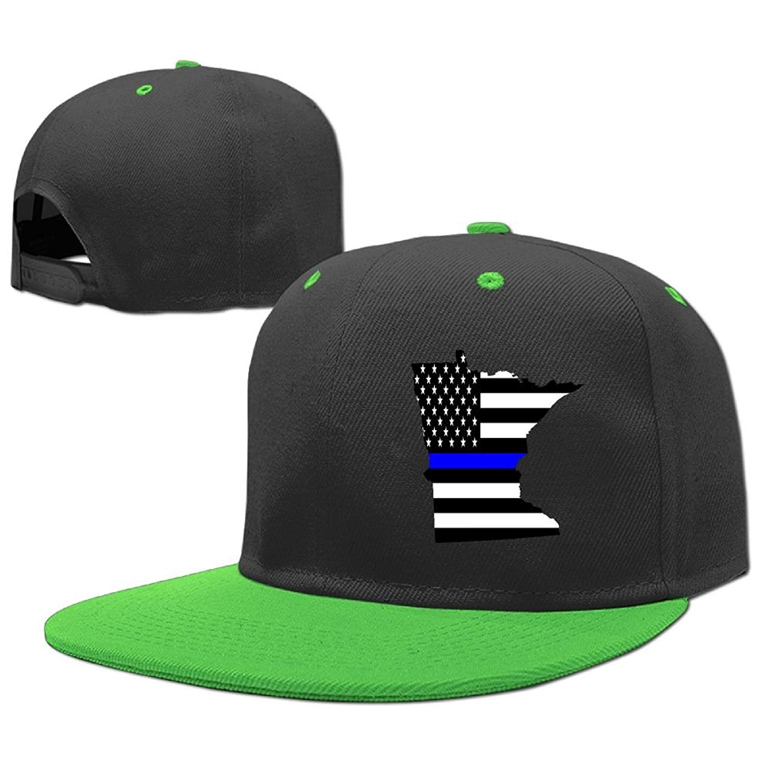 Get Quotations · Kids Minnesota State Map Element Shape Thin Blue Line  Design Adjustable Hip Hop Baseball Hat Custom a05cdddef13