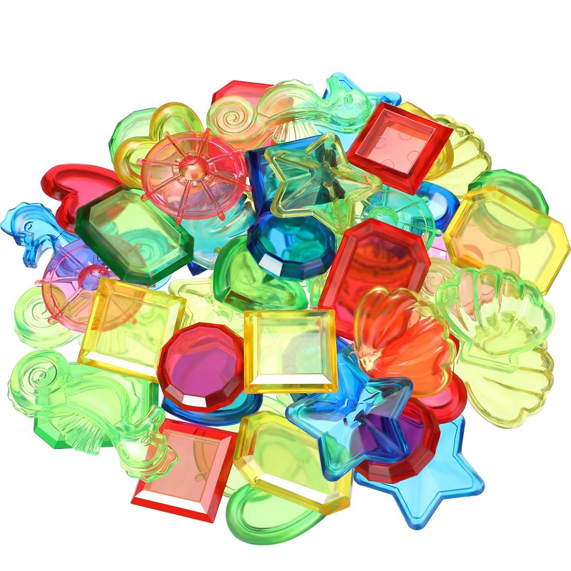 Diving Gem Swimming Pool Dive Gems Plastic Gem Toys for Summer Pool Beach Party