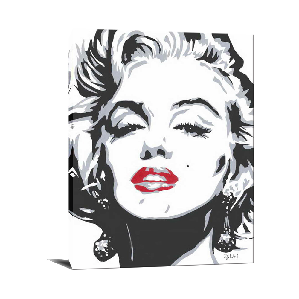 Handmade marilyn monroe portrait famous black and white paintings