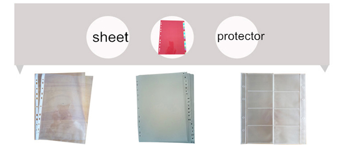 plastic material clear book file a4 display book with high quality