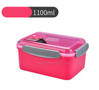 2018 PUYE NEW 1100ML rectangle plastic Microwave food container take away Amazon top bento lunch box