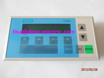 Original 6es7272 0aa30 0ya1 siemens touch screen siemens td200 original 6es7272 0aa30 0ya1 siemens touch screen siemens td200 td400 touch textdisplay for s7 sciox Image collections