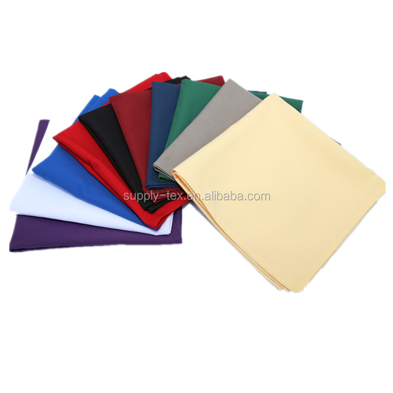100% polyester 100% cotton table napkin for event restaurant