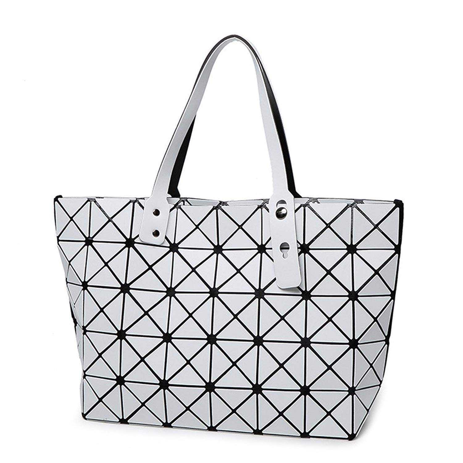 7cff04c3f68f Get Quotations · Bao Bao Bag Folding Matt Metal Drawing Shoulder Handbag  Baobao Bag Casual Women Tote Handle Bag