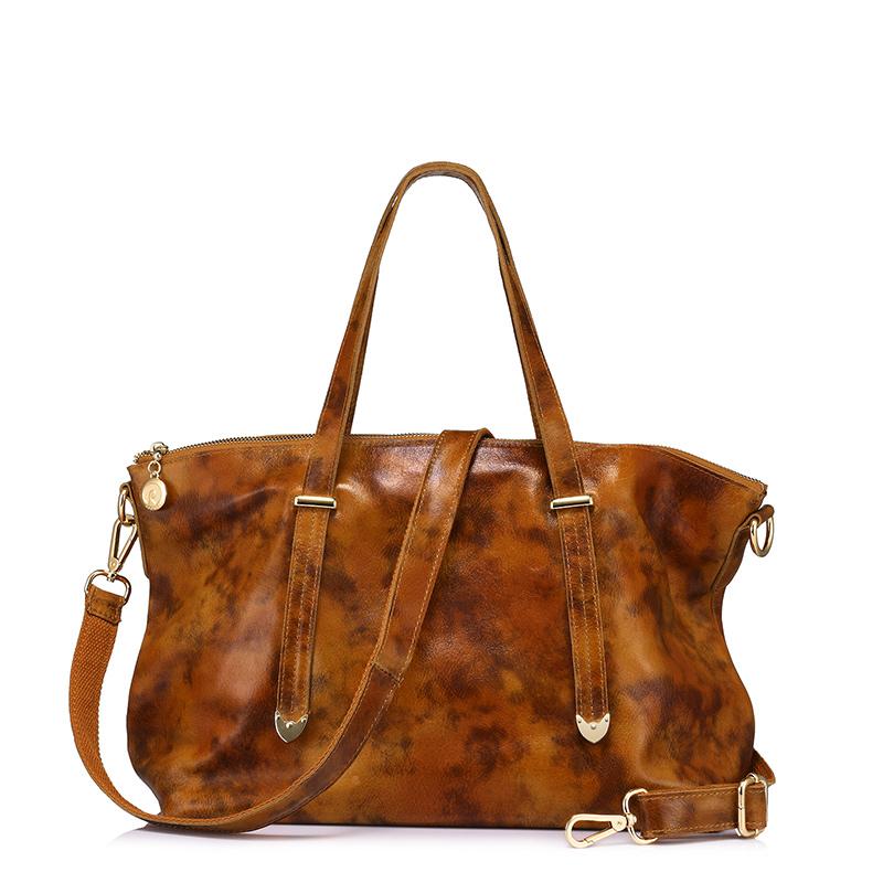 REALER брендовая Сумка-тоут из натуральной кожи, модная женская сумка, женская большая сумка через плечо, высокое качество, однотонная сумка(Китай)