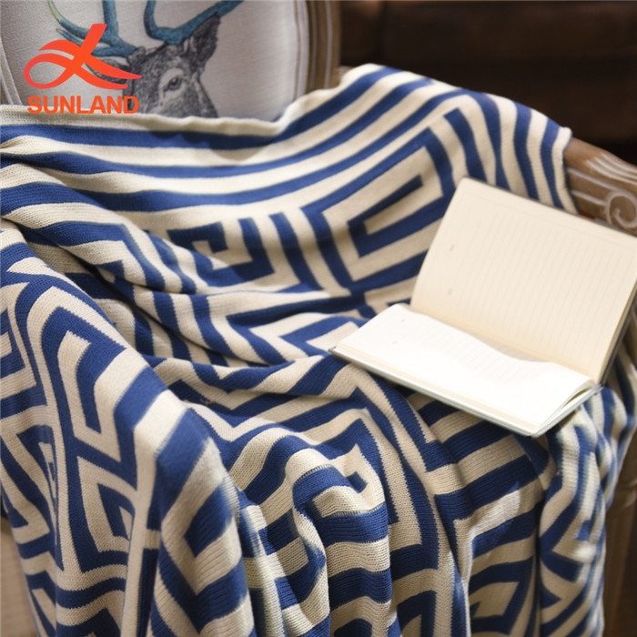 W5029 new fashion Woven Throw Large Family Picnic Home linen blanket