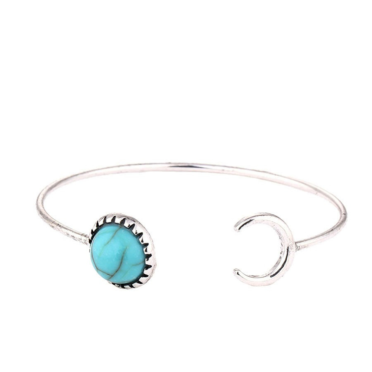 Sun and Moon Shaped Handmade Bracelet Design Belize Bangle for Woman