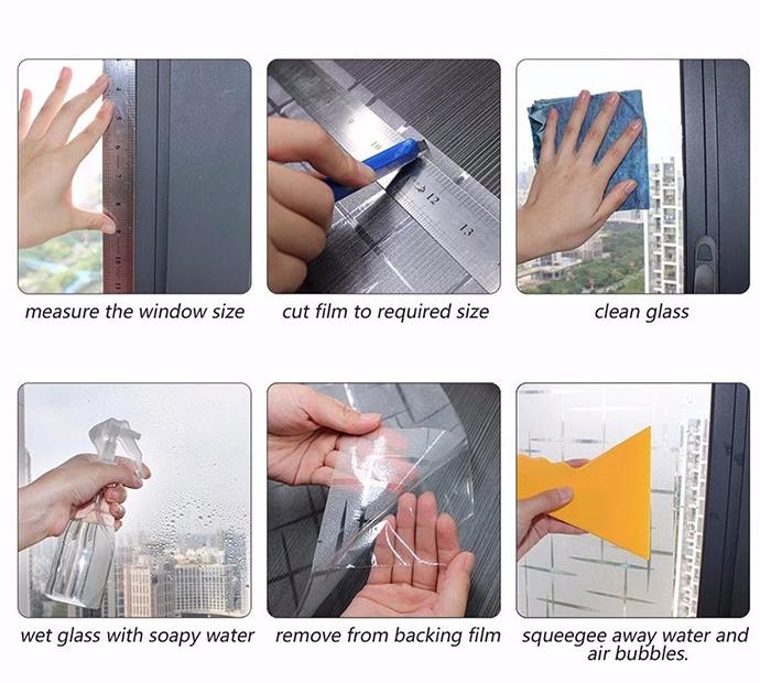 Unti UV 完全に黒ガラス紙すりガラスの窓フィルム