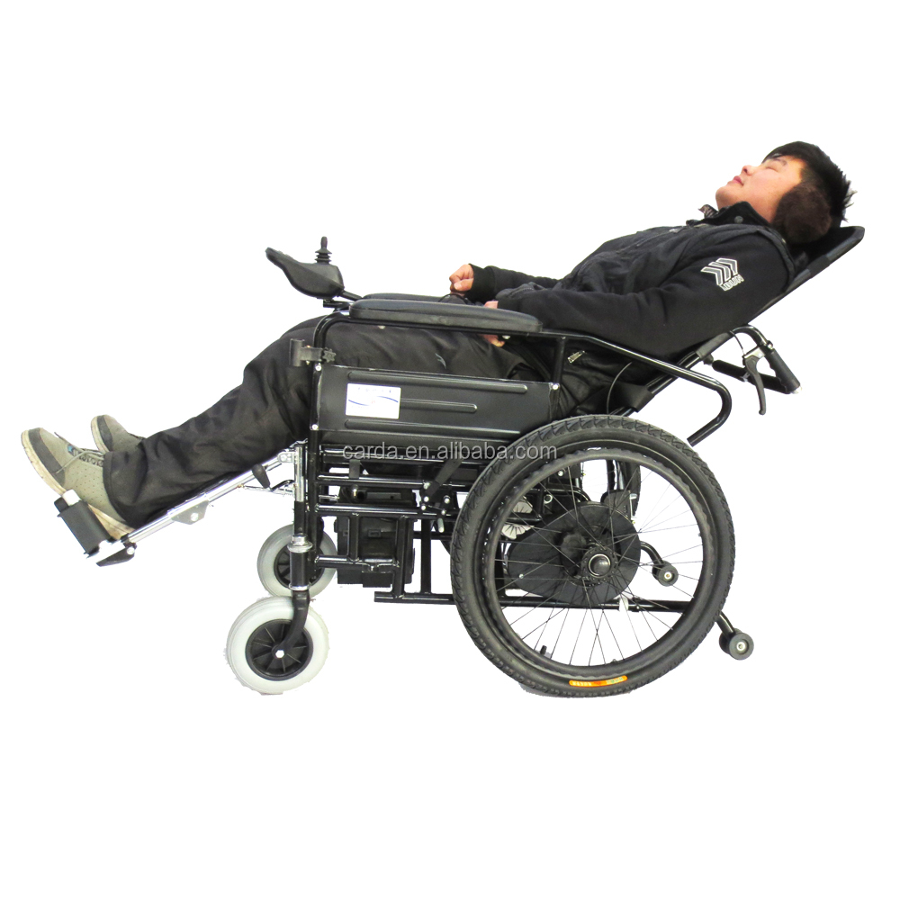 medical care wheelchair for disabled/elderly reclining electric wheelchair lightweight e-wheelchair