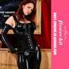 Dropship Top Grade Chic Leather Catsuit Sexy Design Women Latex Bodysuit