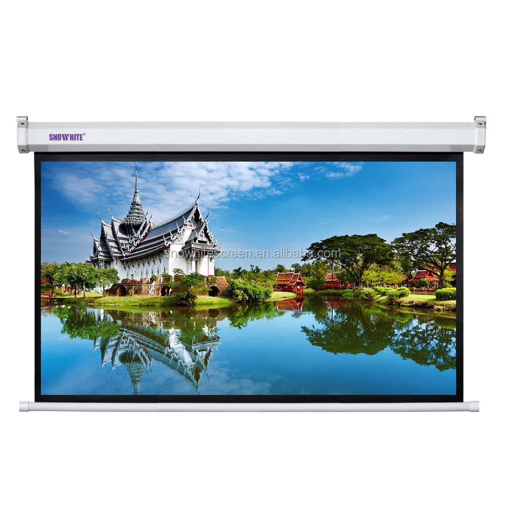 "SNOWHITE 90"" 16:9 Format SM110XEH-C(H) motorized projection screen"