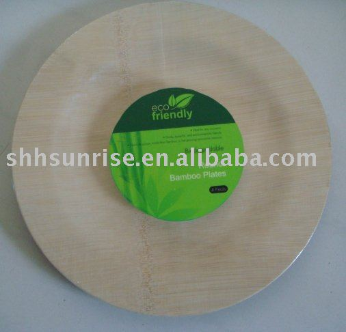 disposable bamboo product / bamboo plate