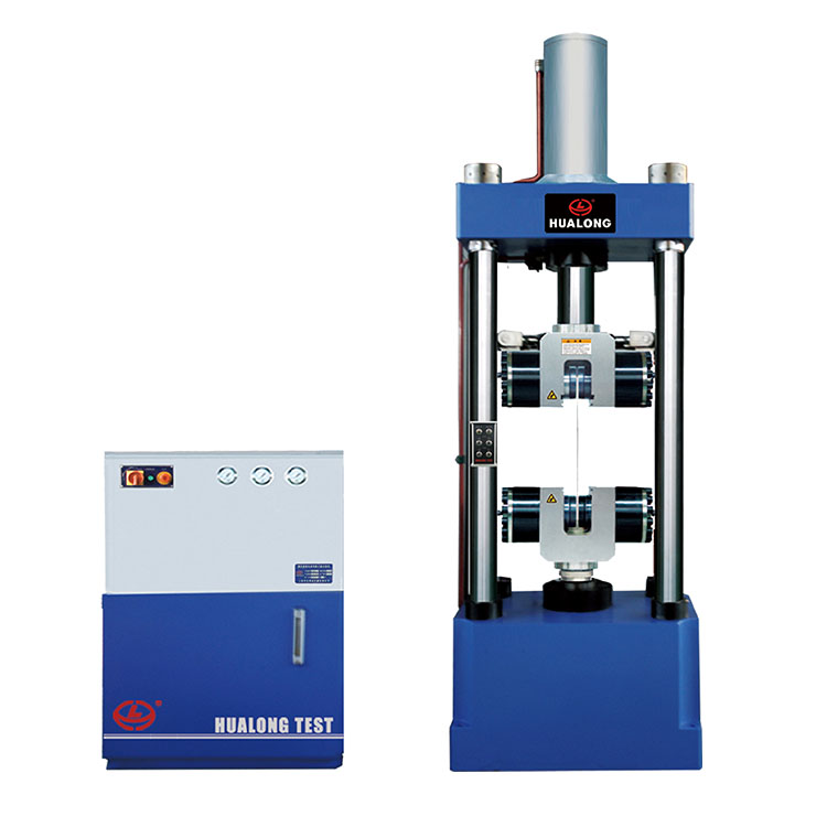 HUALONG High - end Line WAW-500D Electro Hydraulic Servo Universal Testing Machine แบน Clamps