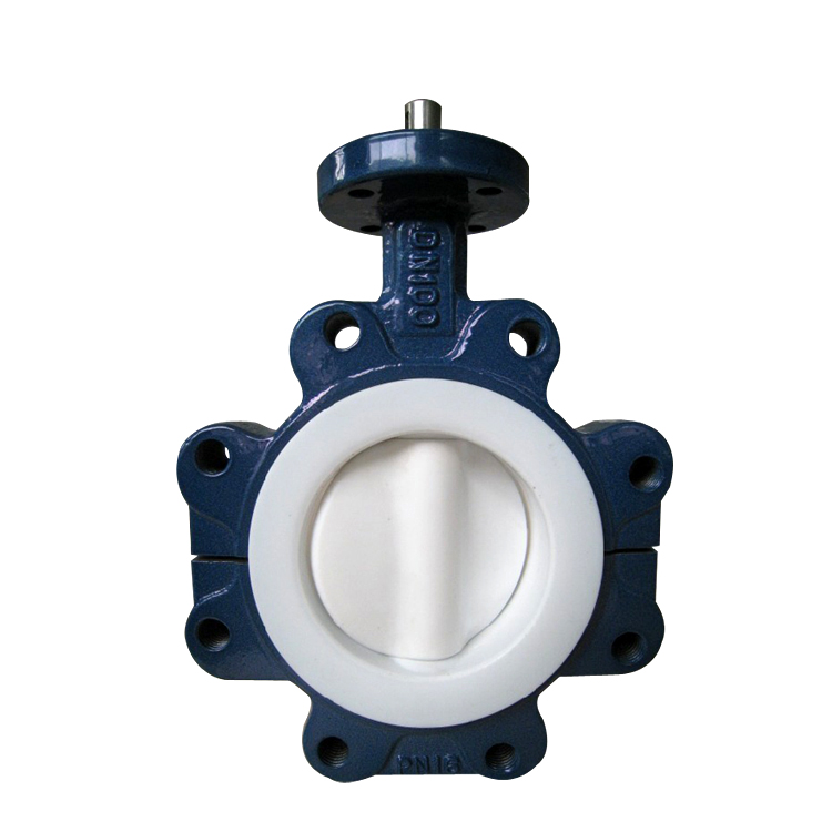 fluorine ANSI B16.34 dn150 butterfly valve for water