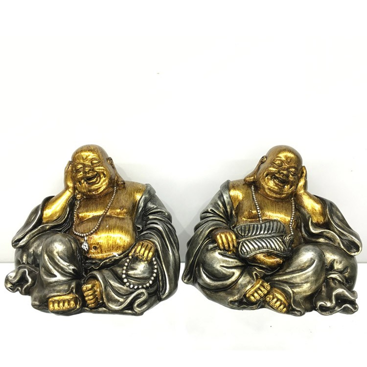 2/s desktop decoration resin laughing happy buddha of wealth