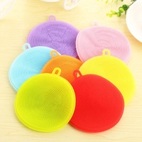 Silicone Dish Sponge Washing Brush Scrubber 5 Pack Household Cleaning Sponges