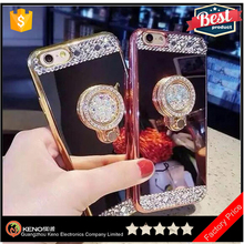 2017 High quality Glitter Rhinestone Diamond Bling bling Electroplating mirror phone case crystal stone mobile cover for iPhone7