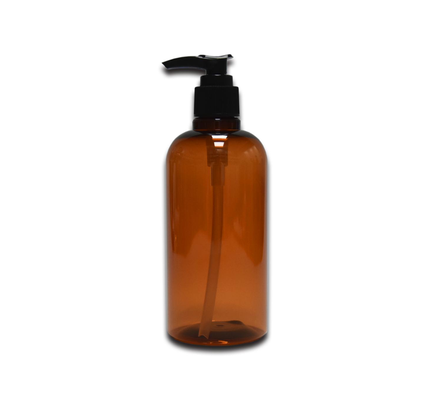 Ámbar de 320 ml botella de champú botella de PCR de embalaje de plástico reciclable del cuerpo de la botella de loción para el cabello acondicionador botella de embalaje