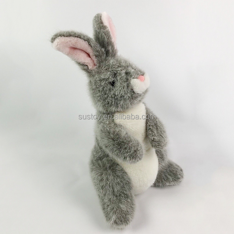 Cheap Gray Plush Full Body Korea Rabbit Bunny Hand puppet