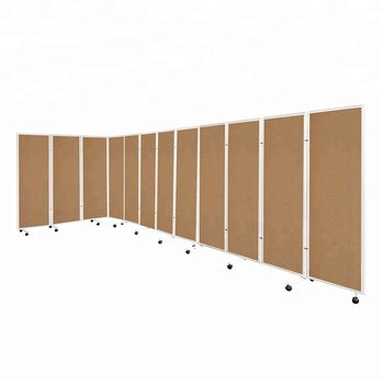office partitions used 4 panel mobile concertina folding screen cork board room dividers