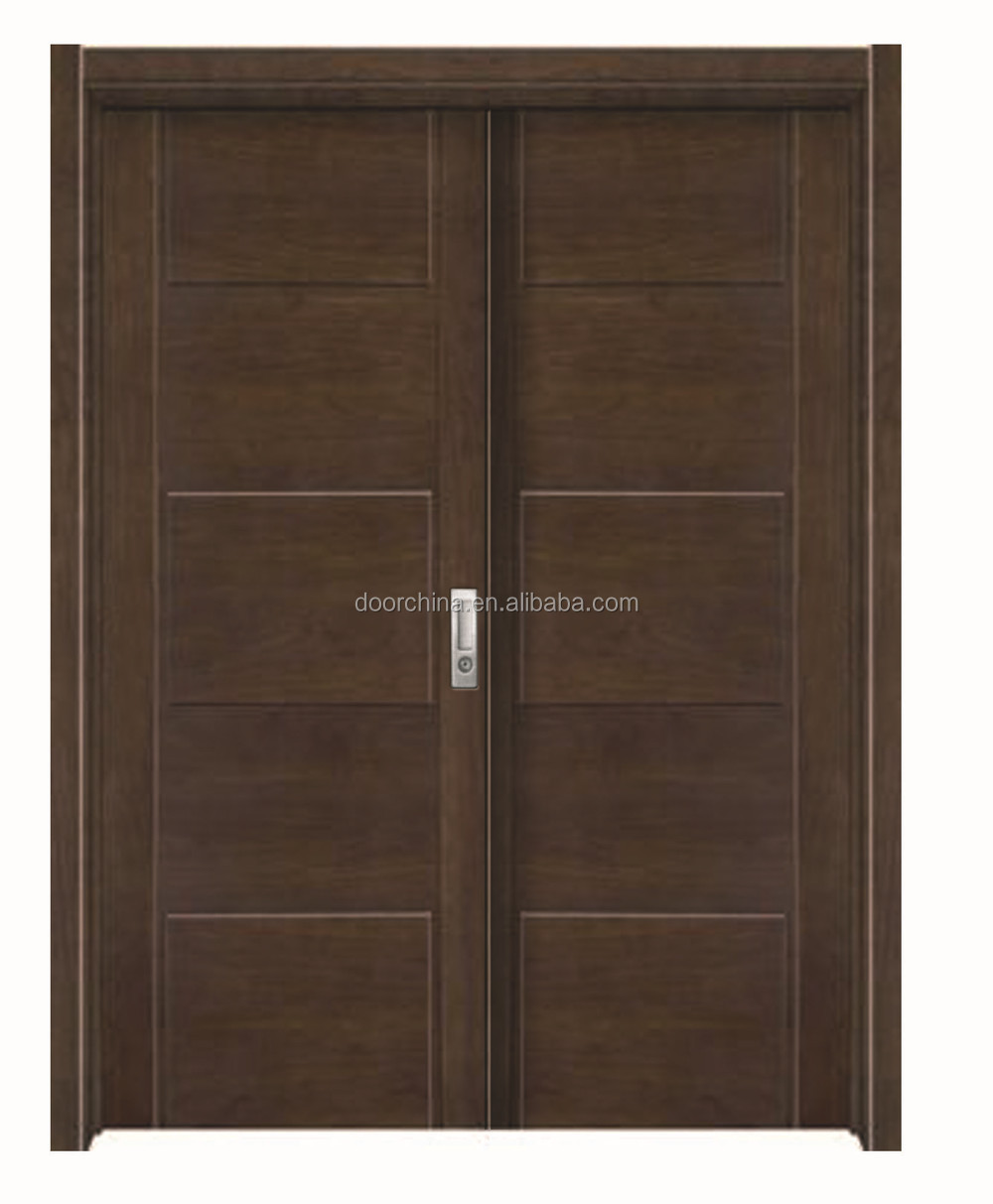 Pvc indian style wooden main door designs double door for Wooden double door designs for main door