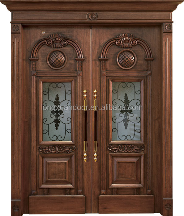 teak wood double entry door design used solid wood interior doors