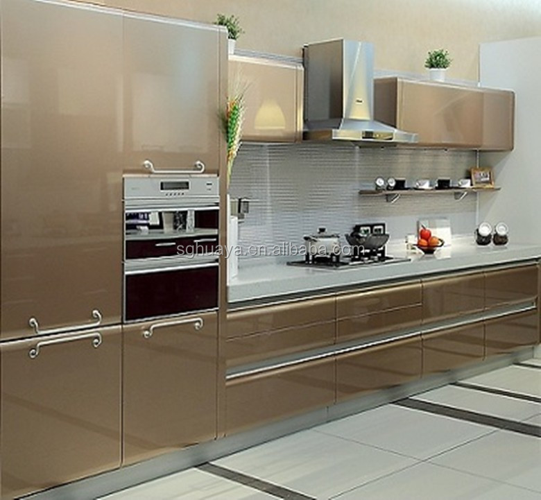 Eropa Berukuran Modular Lemari Dapur Serat Kabinet Pintu Digunakan Murah Louvered