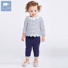 DBM7175 Dave Bella 2018 spring long sleeve baby clothing sets girls printed sets baby clothing sets baby clothes