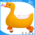 newest goose model kids pedal ride on toy car with Universal wheel in 4 wheels