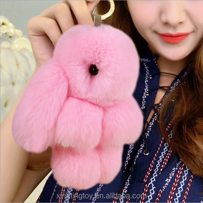Cute rabbit plush Key chain backpack Decoration hanging jewelry pendant