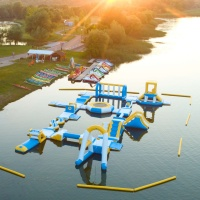 Hungary Inflatable Water Sport Park / Kids Inflatable Aqua Park For Lake