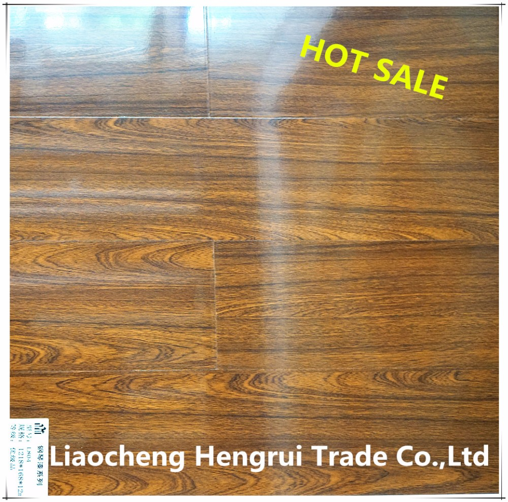 Mirror Surface Good Wearproof Light Brown Engineered laminate Solid Wood flooring Wooden Flooring Wood Floor