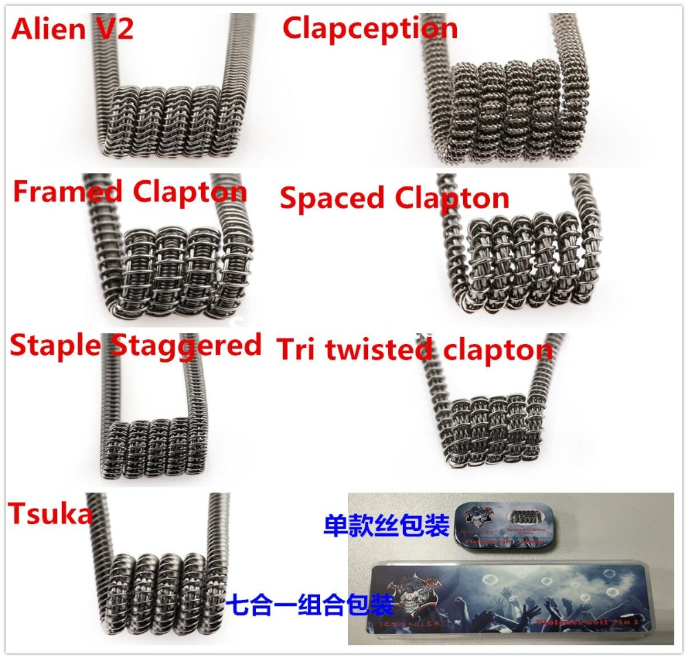 Flat Twisted Wire Fused Clapton Hive Alien Mix Twisted Quad Tiger 15 ...